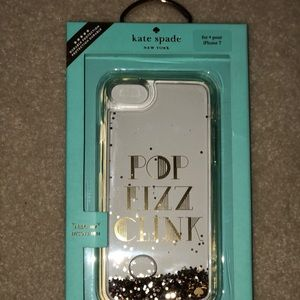 "Kate Spade iPhone 7 4.7"" Clean Liquid Glitter Case"